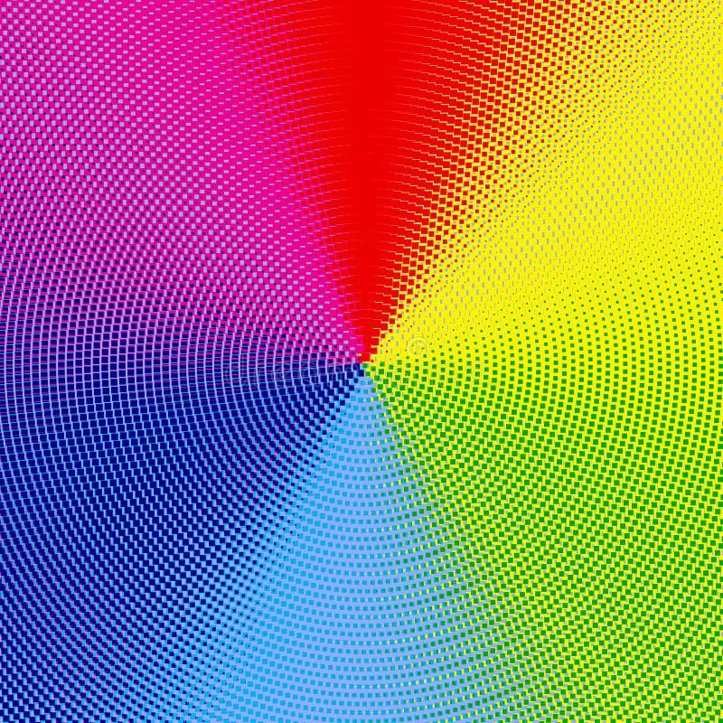 Espectro de cor de intervalo mínimo ilustração do vetor