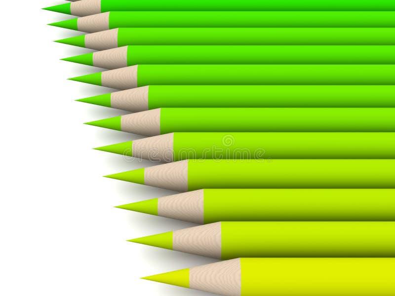 Espectro de cor do pastel - verde ilustração royalty free