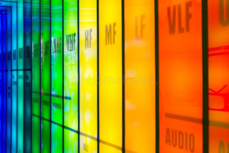 Espectro de la frecuencia imagenes de archivo