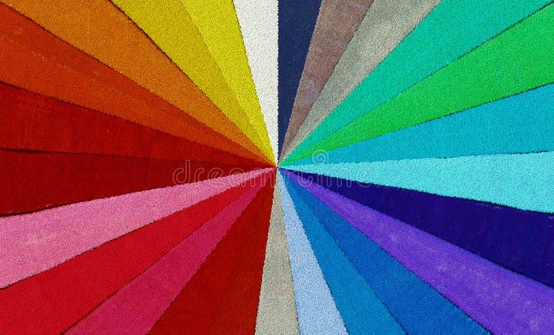Espectro de las gotas coloreadas foto de archivo