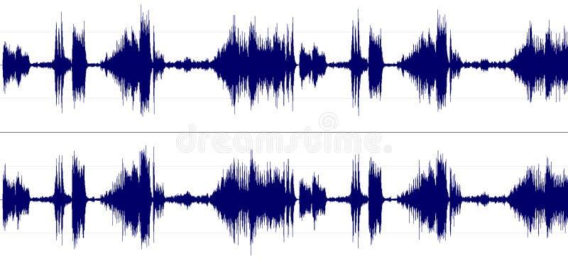 Espectro de som estéreo ilustração stock