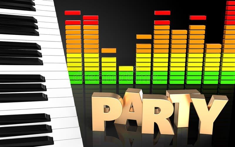 Download Espectro Del Audio De La Muestra Del Partido 3d Stock de ilustración - Ilustración de noche, partido: 100530067