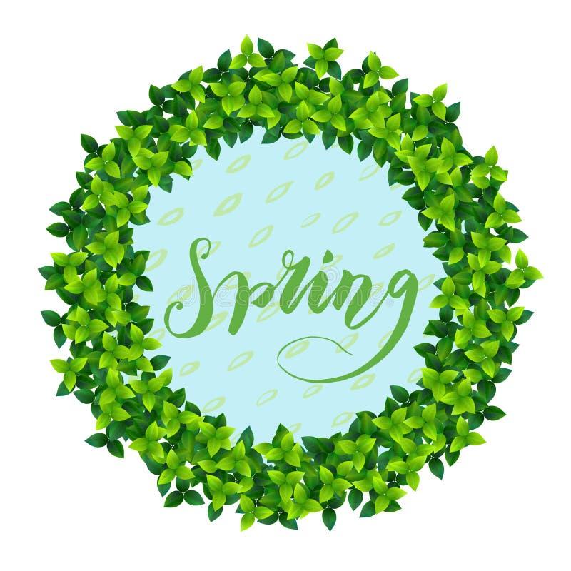 Espectro y letras de la primavera libre illustration