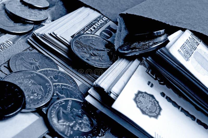 Especulación del urrency del  del dólar Ñ de la rublo foto de archivo libre de regalías