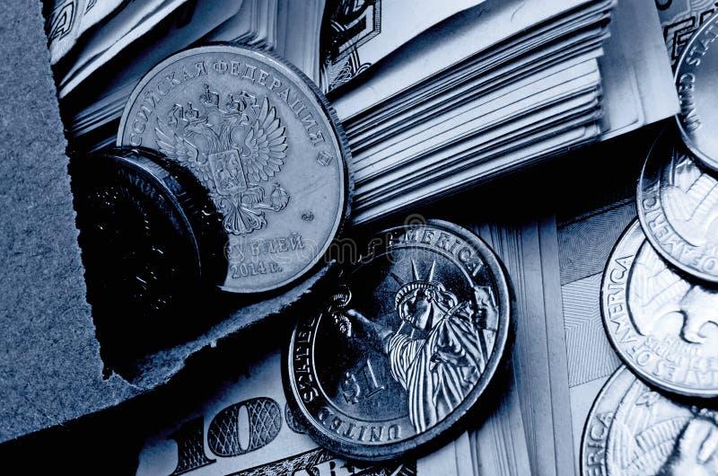 Especulación del urrency del  del dólar Ñ de la rublo fotos de archivo libres de regalías