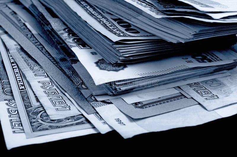 especulación del urrency del  del Rublo-dólar Ñ imagenes de archivo