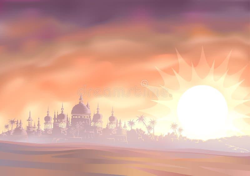 Espejismo del desierto libre illustration