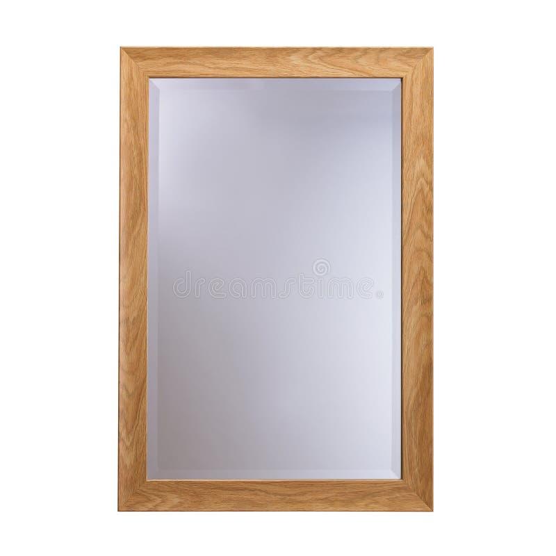 Espejo de cristal del marco de madera foto de archivo