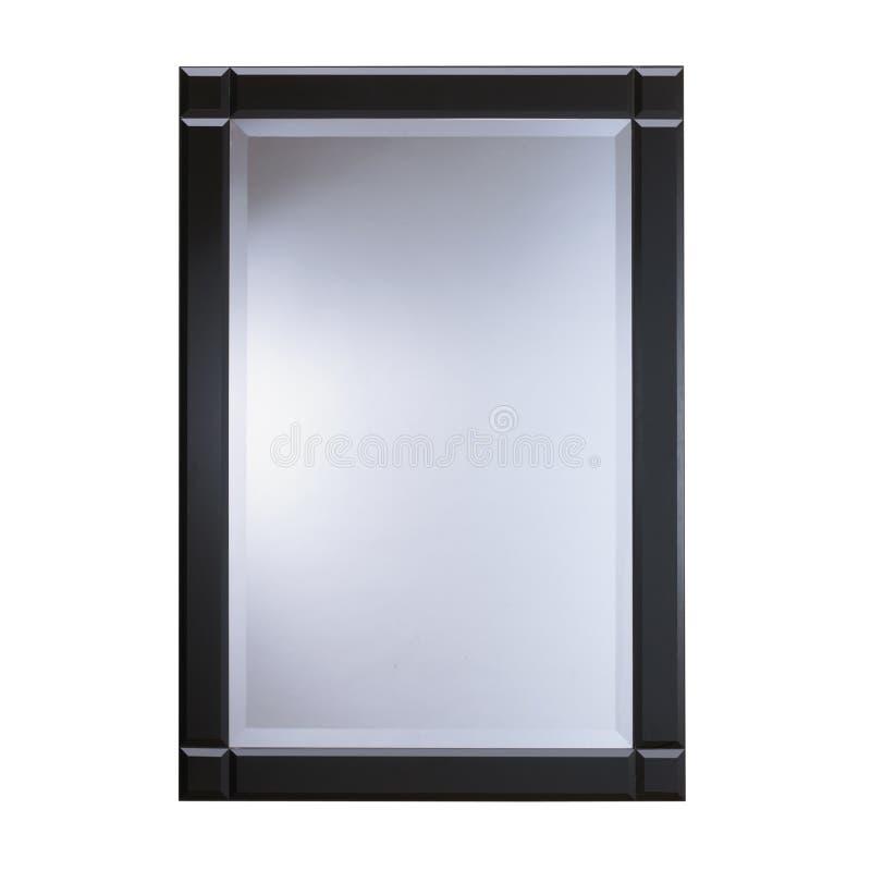 Espejo de cristal del marco negro imagen de archivo for Espejo marco cristal