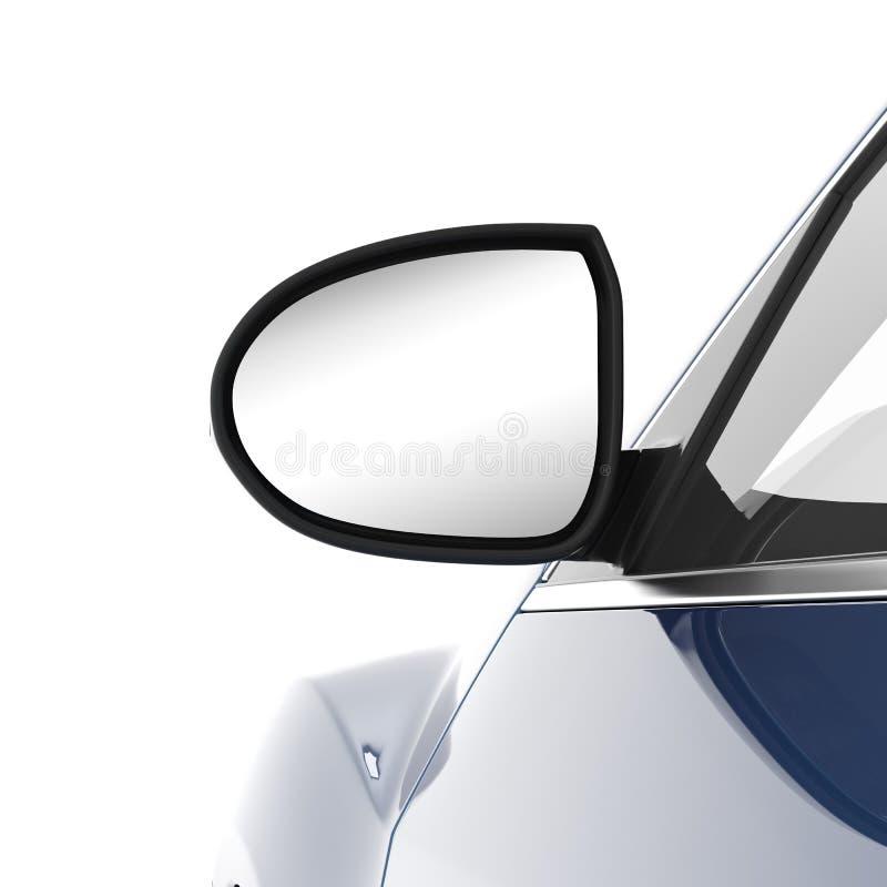 Espejo de la vista posterior ilustración del vector