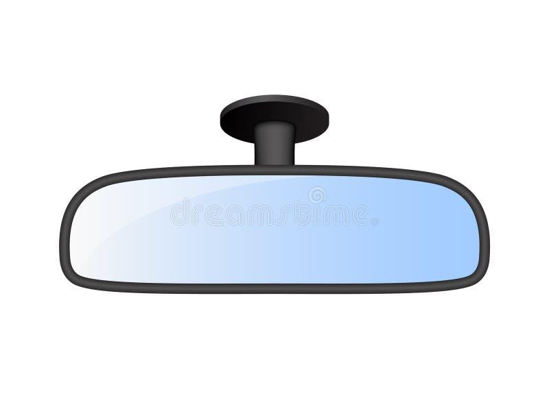 Espejo de la vista posterior del coche stock de ilustración
