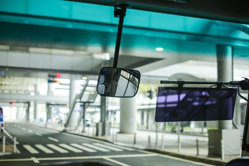Espejo del autobús imagen de archivo