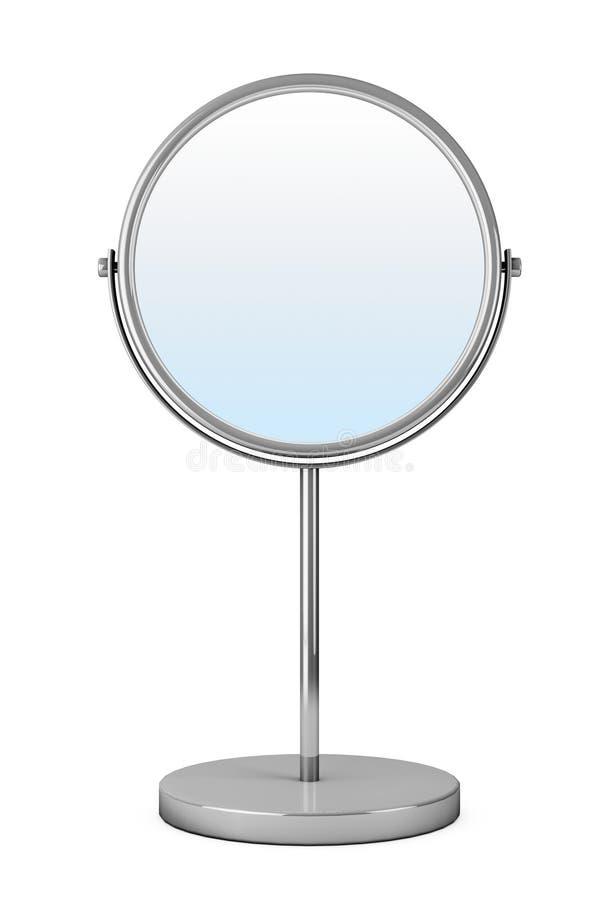 Espejo del maquillaje de Chrome ilustración del vector