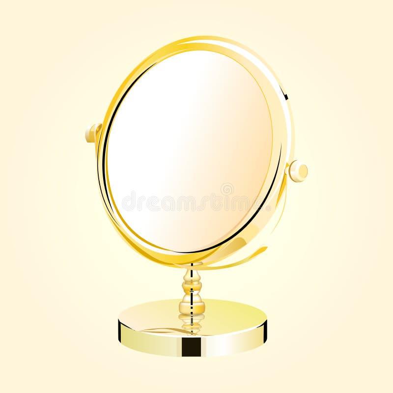 Espejo del maquillaje del metal del vector. stock de ilustración