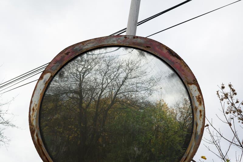 Espejo del tráfico del moho imagenes de archivo