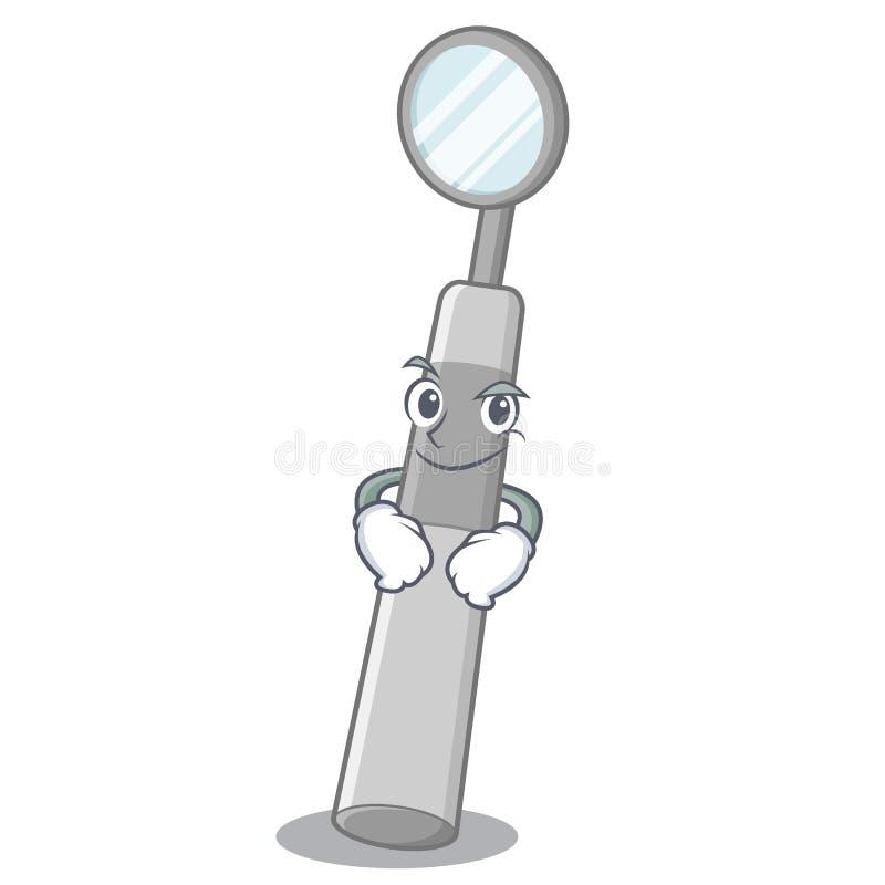 Espejo dental Smirking en medicina de la historieta de la caja libre illustration