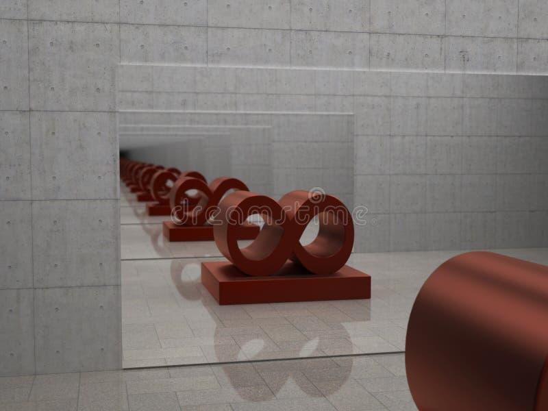 Espejo infinito 1 stock de ilustraci n imagen de for Miroir infini