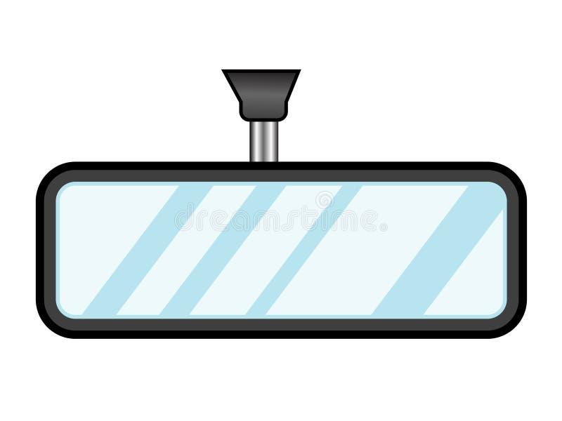 Espejo interno de la vista posterior stock de ilustración