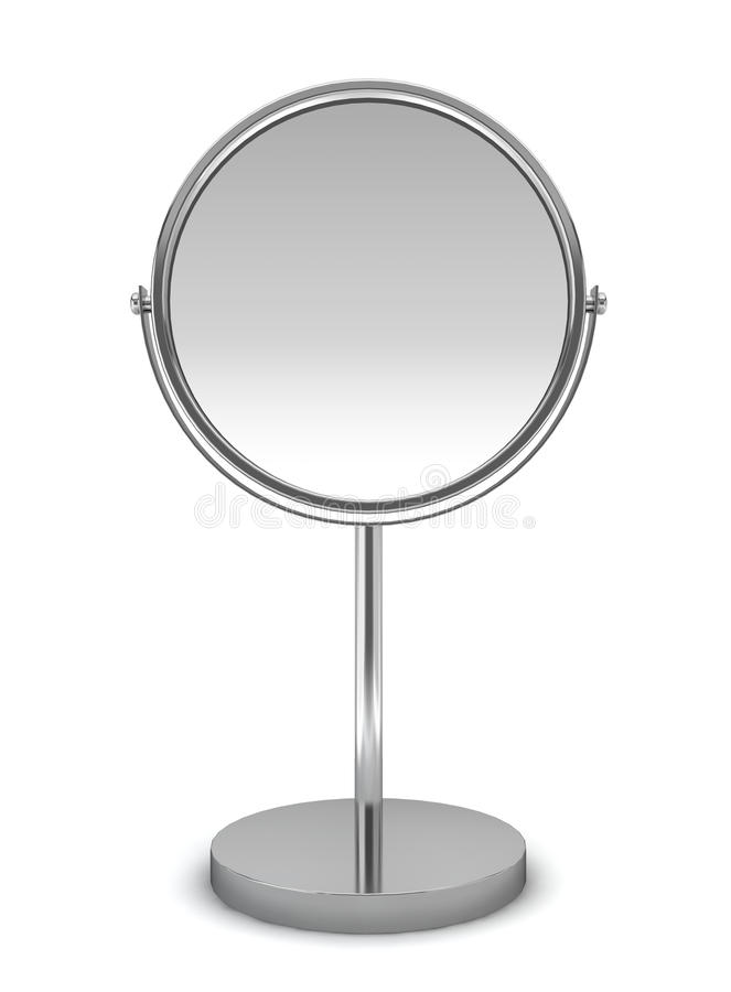 Espejo redondo ilustración del vector