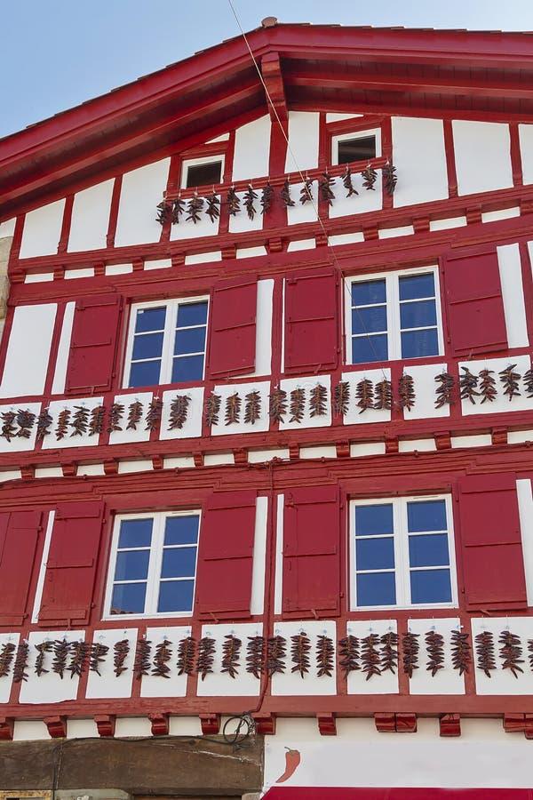Espelette baska miasteczko zdjęcia stock