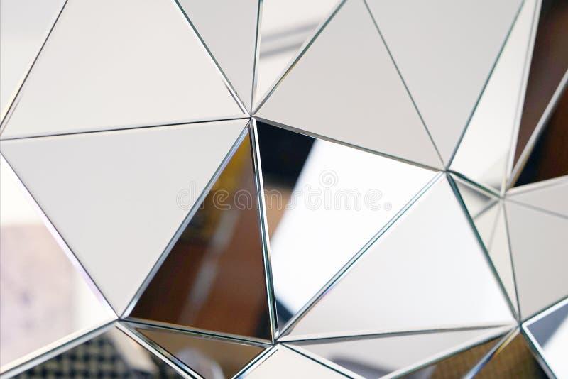 Espelho abstrato Close-up imagem de stock