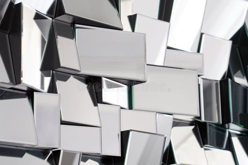 Espelho abstrato Close-up fotos de stock