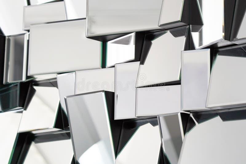 Espelho abstrato Close-up imagens de stock