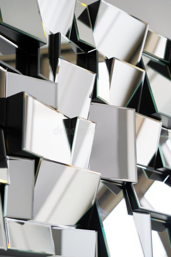 Espelho abstrato Close-up foto de stock