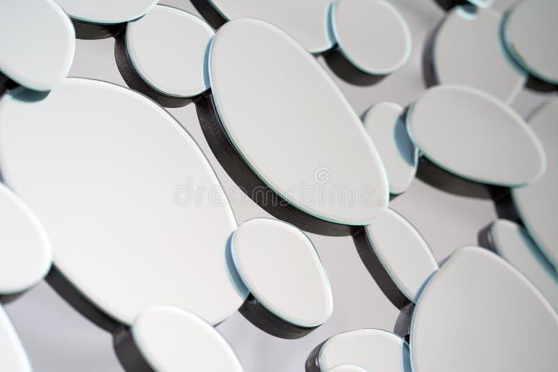 Espelho abstrato Close-up fotografia de stock