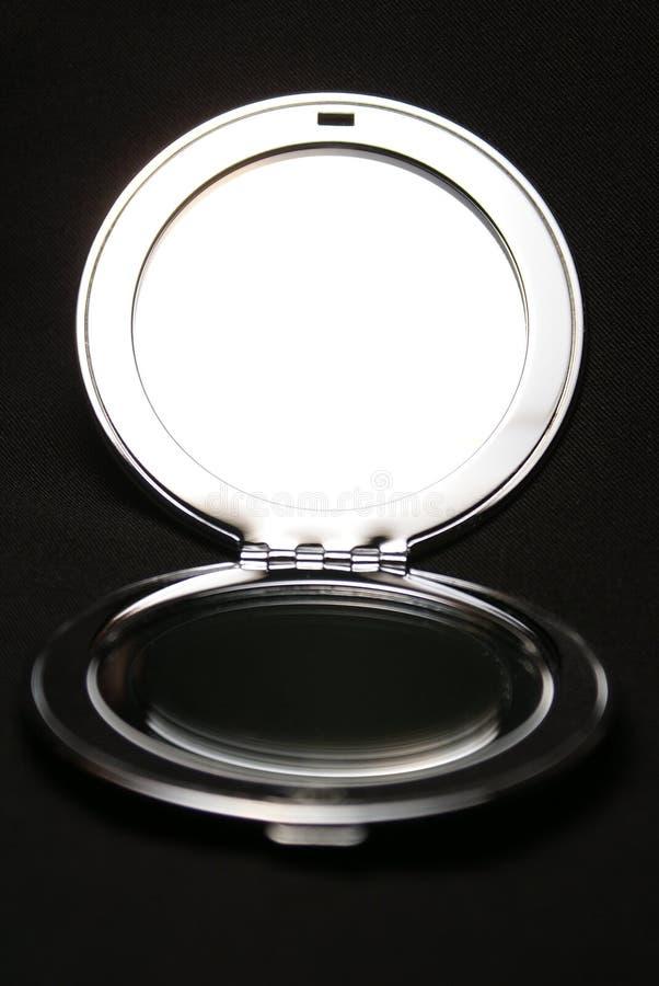 Espelho brilhante do metal fotos de stock