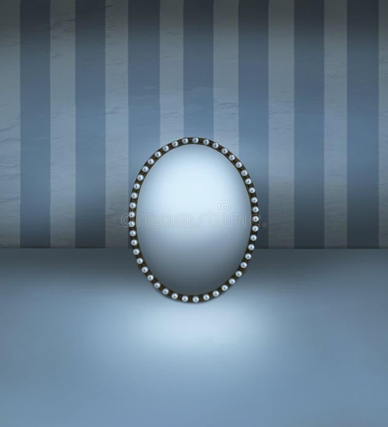 Espelho com quadro fotografia de stock royalty free