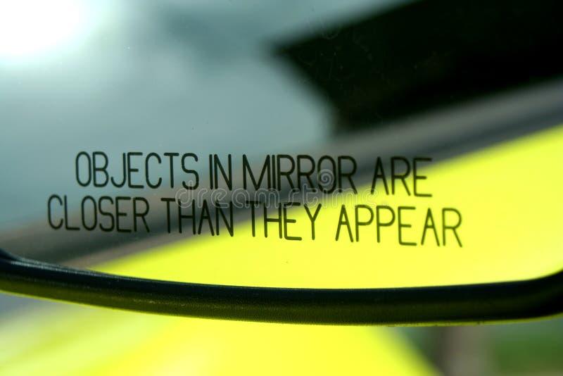 Espelho de carro foto de stock