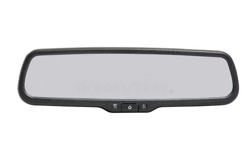 Espelho de carro isolado no fundo branco imagens de stock