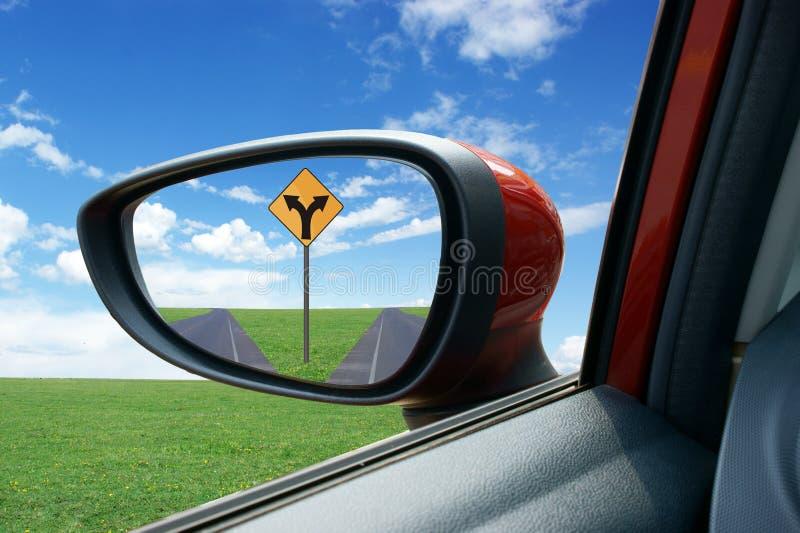 Espelho de Rearview fotografia de stock royalty free