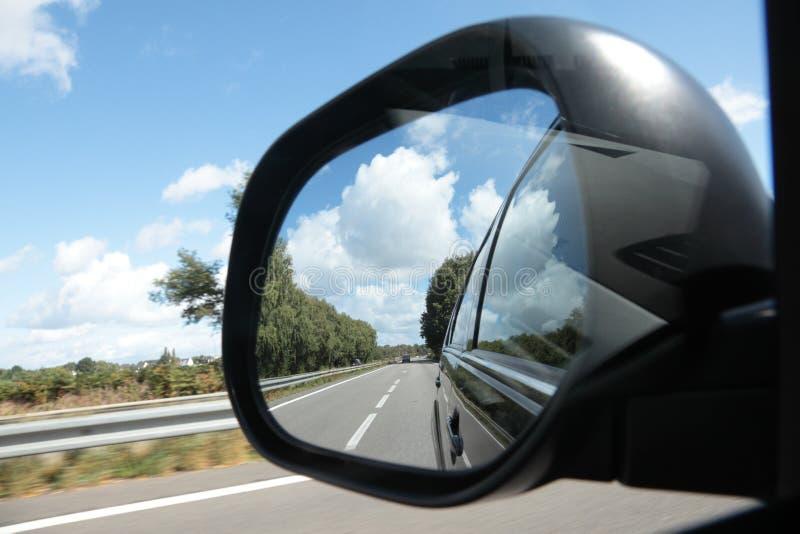 Espelho de vista traseira foto de stock
