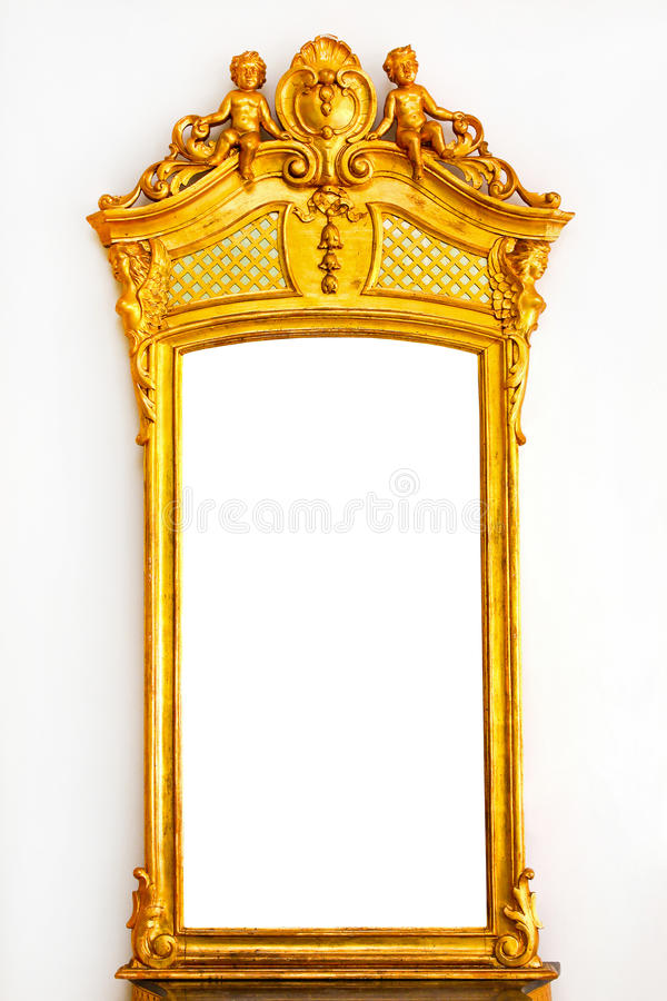 Espelho do ouro foto de stock