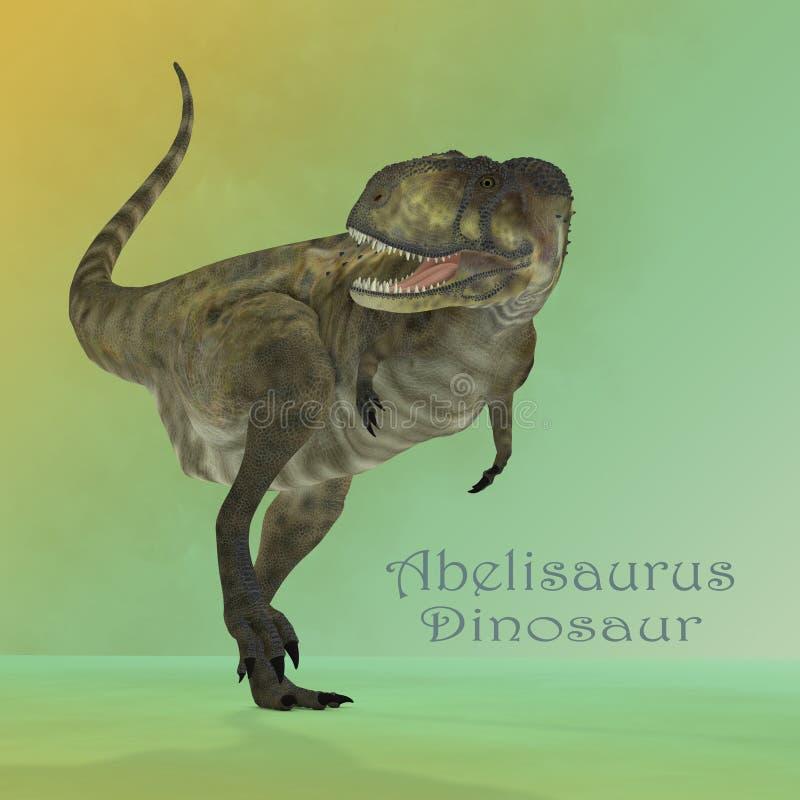 Espelho do predador do Abelisaurus ilustração stock