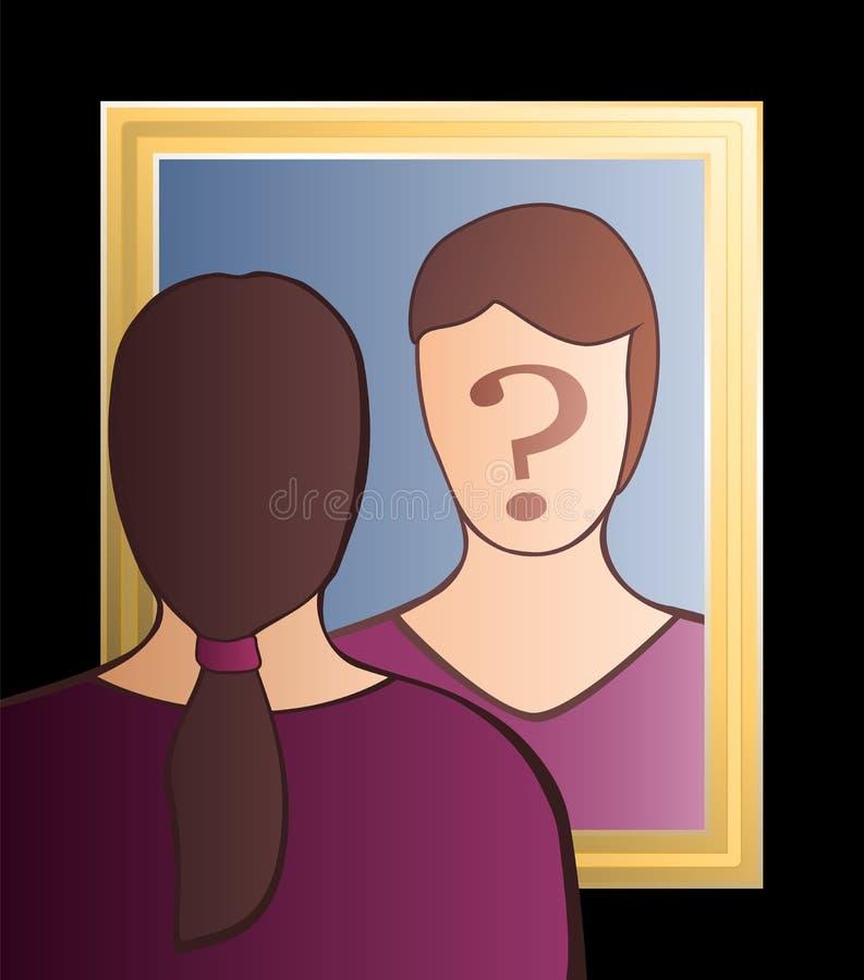 Espelho que é mim mulher ilustração do vetor