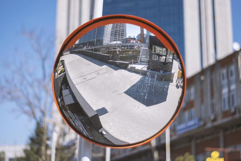 Espelho traseiro da segurança imagem de stock