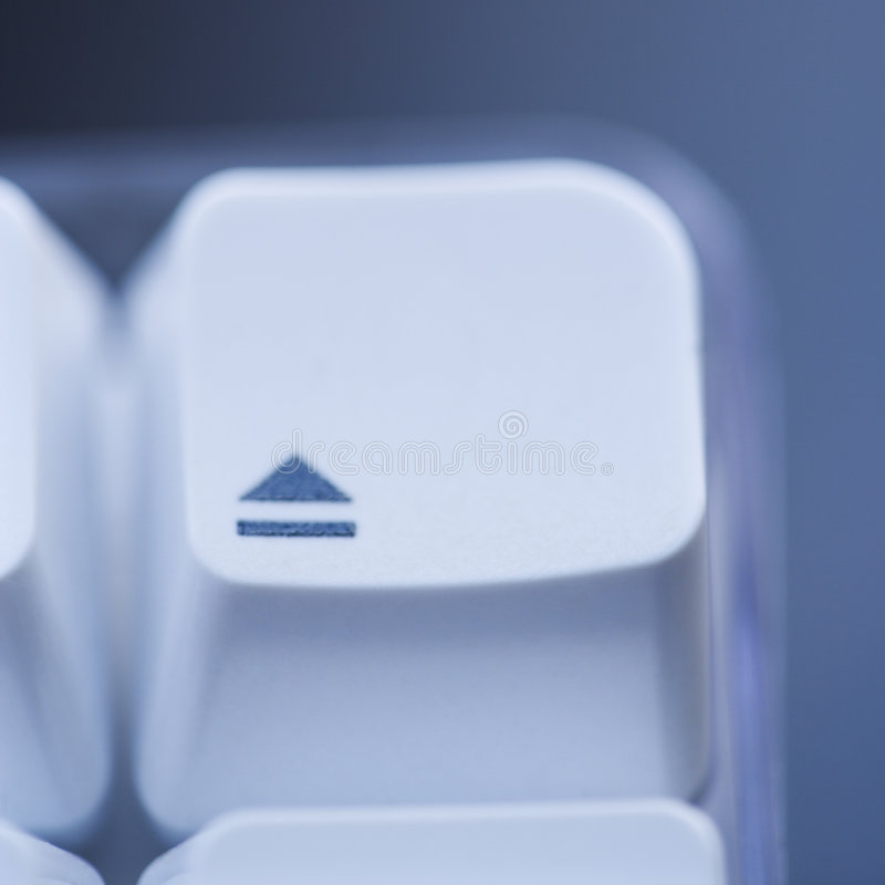 Espella il tasto di calcolatore. fotografia stock