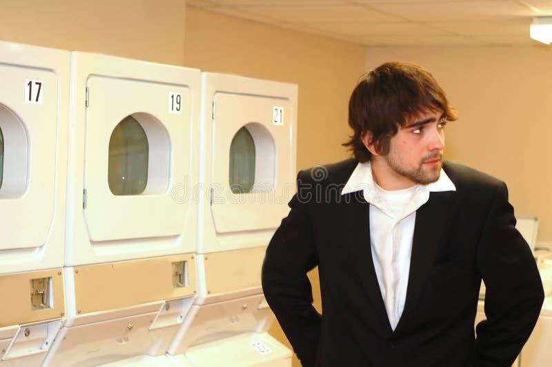A espera de Laundryroom imagem de stock