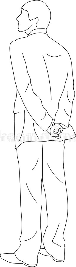 Espera do homem ilustração royalty free