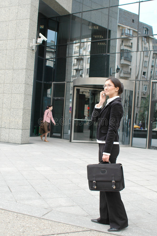 Espera em uma reunião imagem de stock