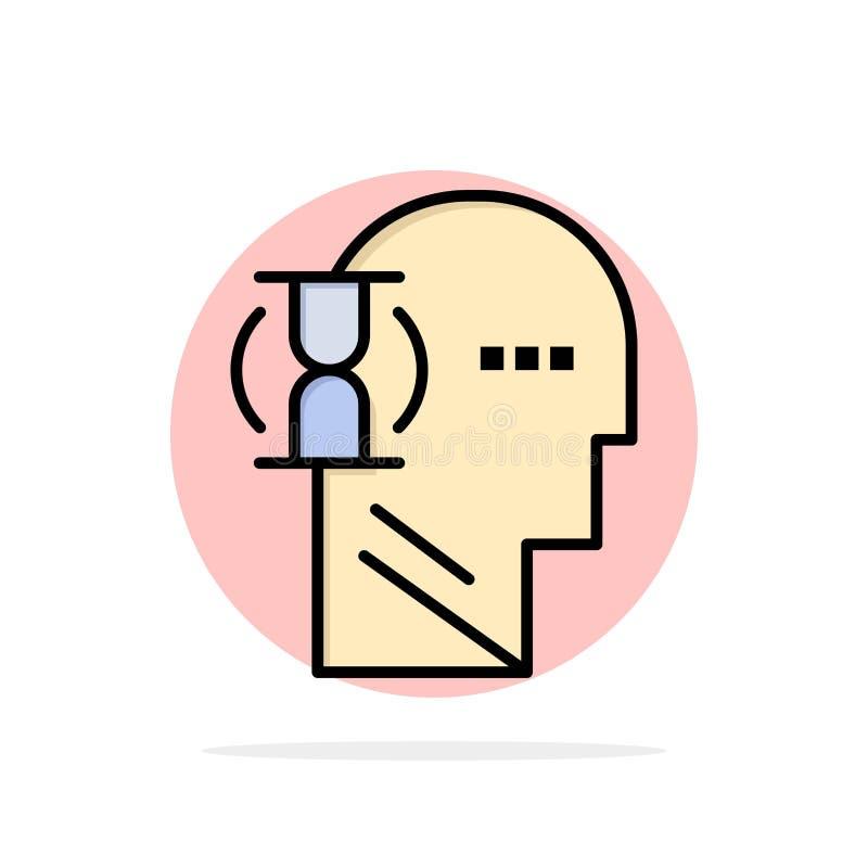 Espera, vidro, usuário, ícone liso da cor do fundo abstrato masculino do círculo ilustração do vetor