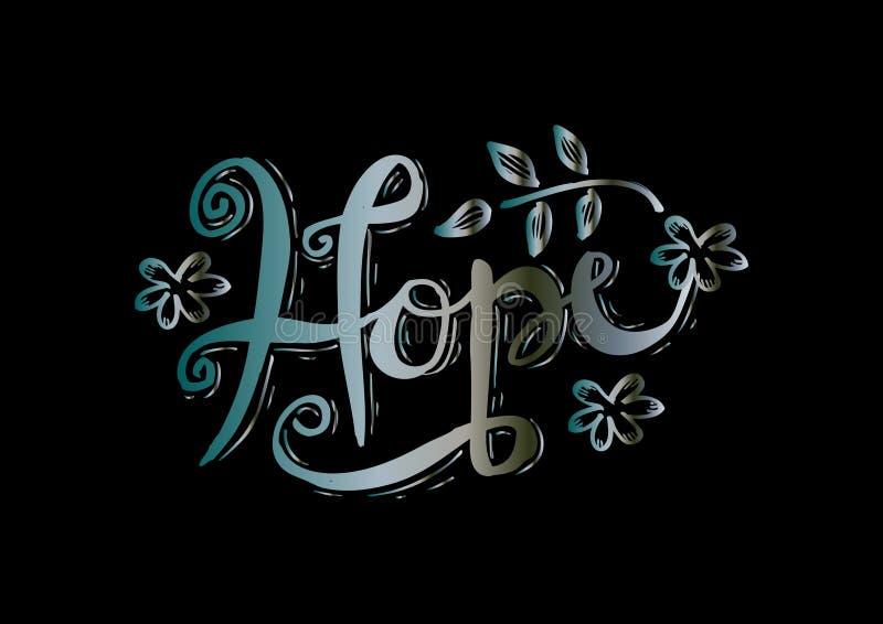 Esperança ilustração stock