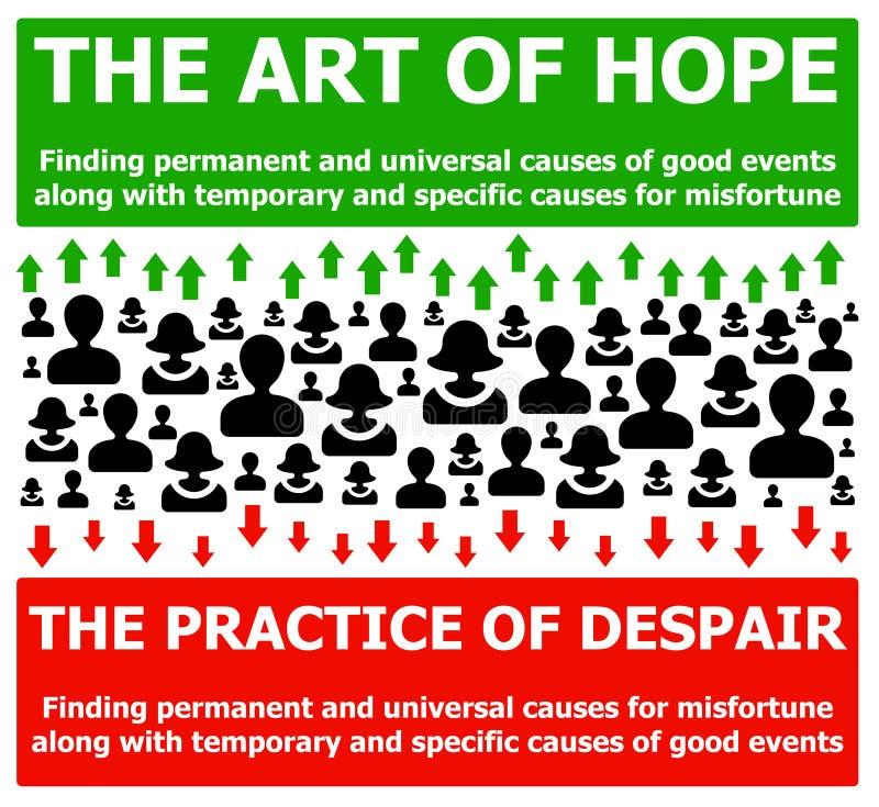 Esperança e desespero ilustração royalty free