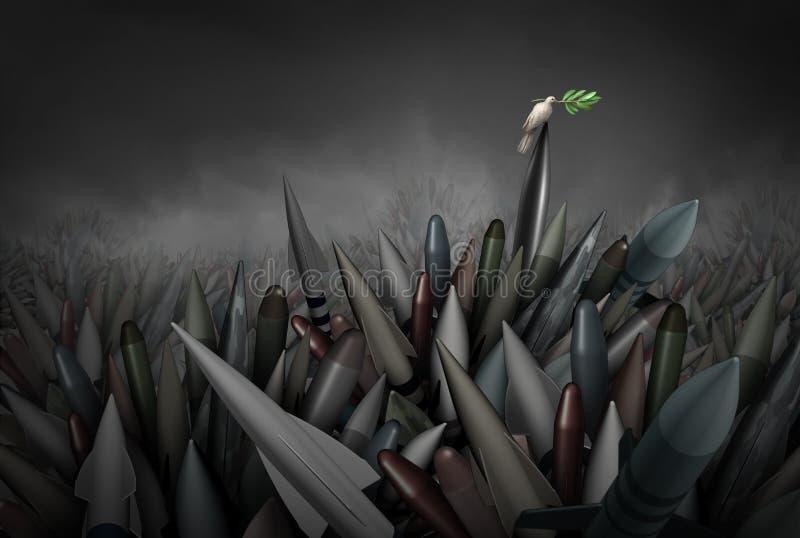 Esperança para nenhuma guerra ilustração stock