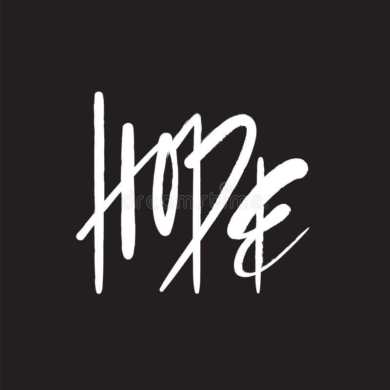 Esperança - simples inspire e citações inspiradores Rotulação bonita tirada mão ilustração royalty free