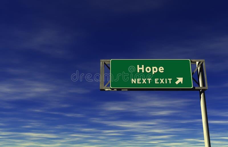 Esperança, sinal da saída de autoestrada ilustração royalty free