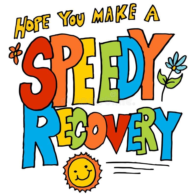Esperança você faz uma mensagem da recuperação rápida ilustração do vetor